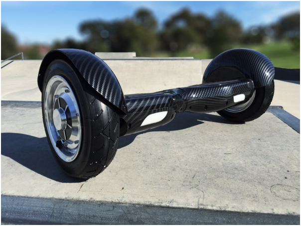 "Hoverboard EcoWheel Offroad 10""  s bluetooth - grafitty žlutá"